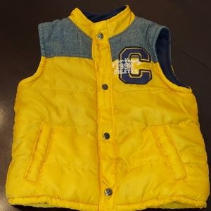 Junior Varsity Yellow Quilted Puffer Vest Sz 3T